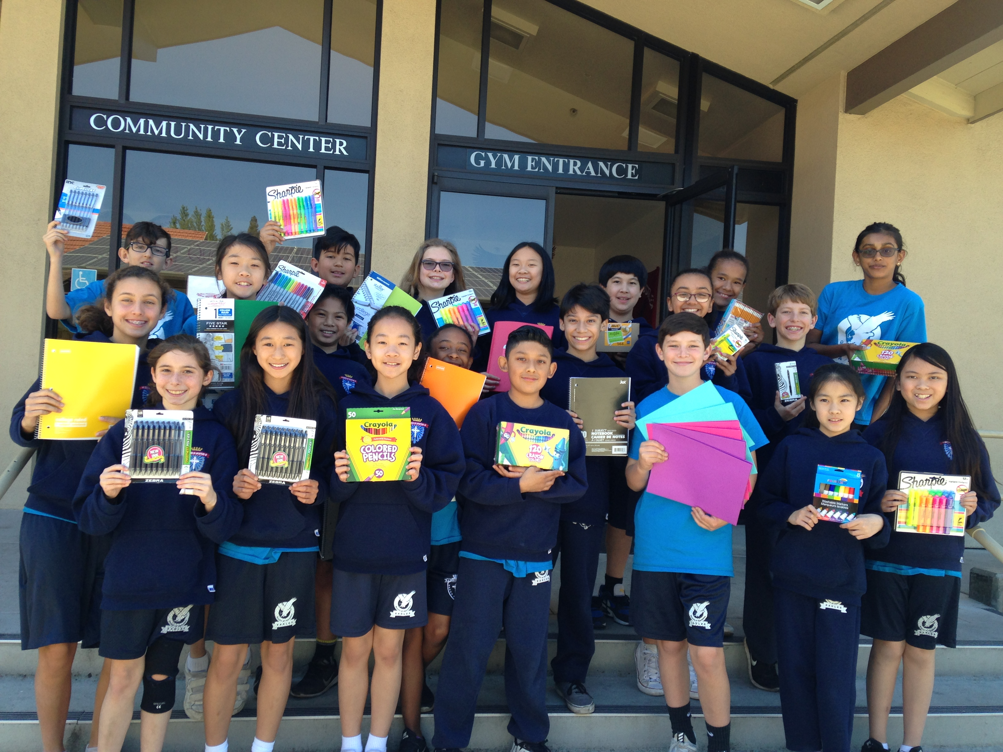 Supplies Drive 5th Grade Student Leaders